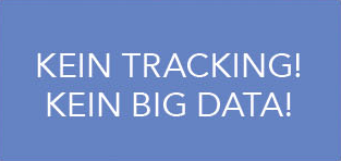 Kein Tracking! Kein Big Data!